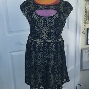 M Gorgeous and sexy black lace fully lined dress